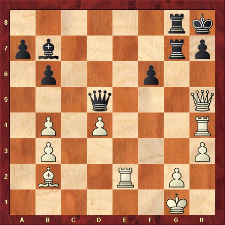 Diagrama 11-negrul muta si da mat in 5 mutari