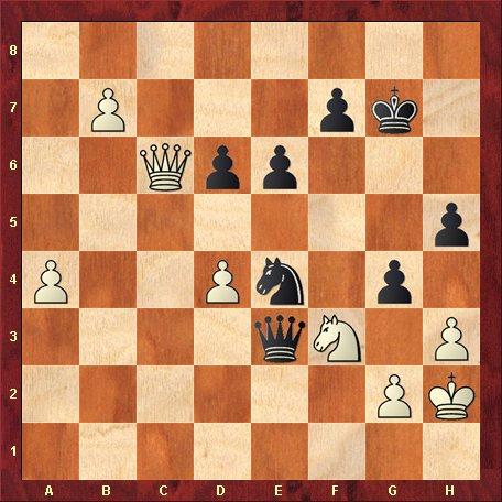 Diagrama 13-negrul muta si da mat in 5 mutari