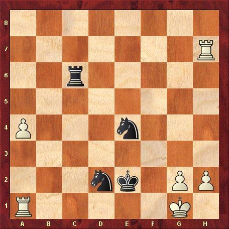 Diagrama 6-negrul muta si da mat in 3 mutari