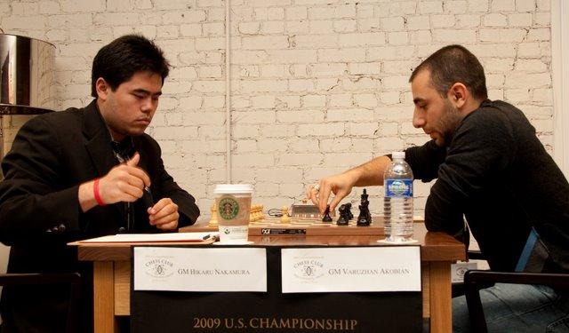 Nakamura vs Akobian Round 7 2009 US Champs-25