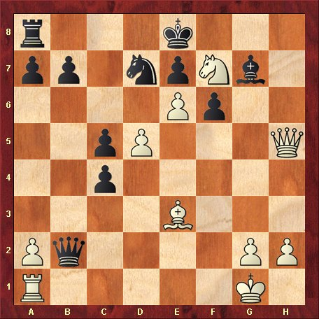 Diagrama 5 - albul muta si da mat in 5 mutari