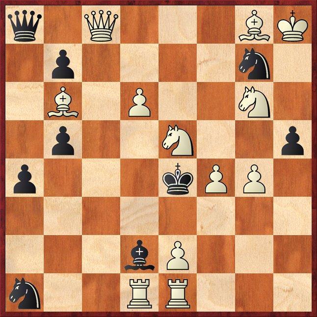 albul mută şi dă mat în 2 mutări-Pos1